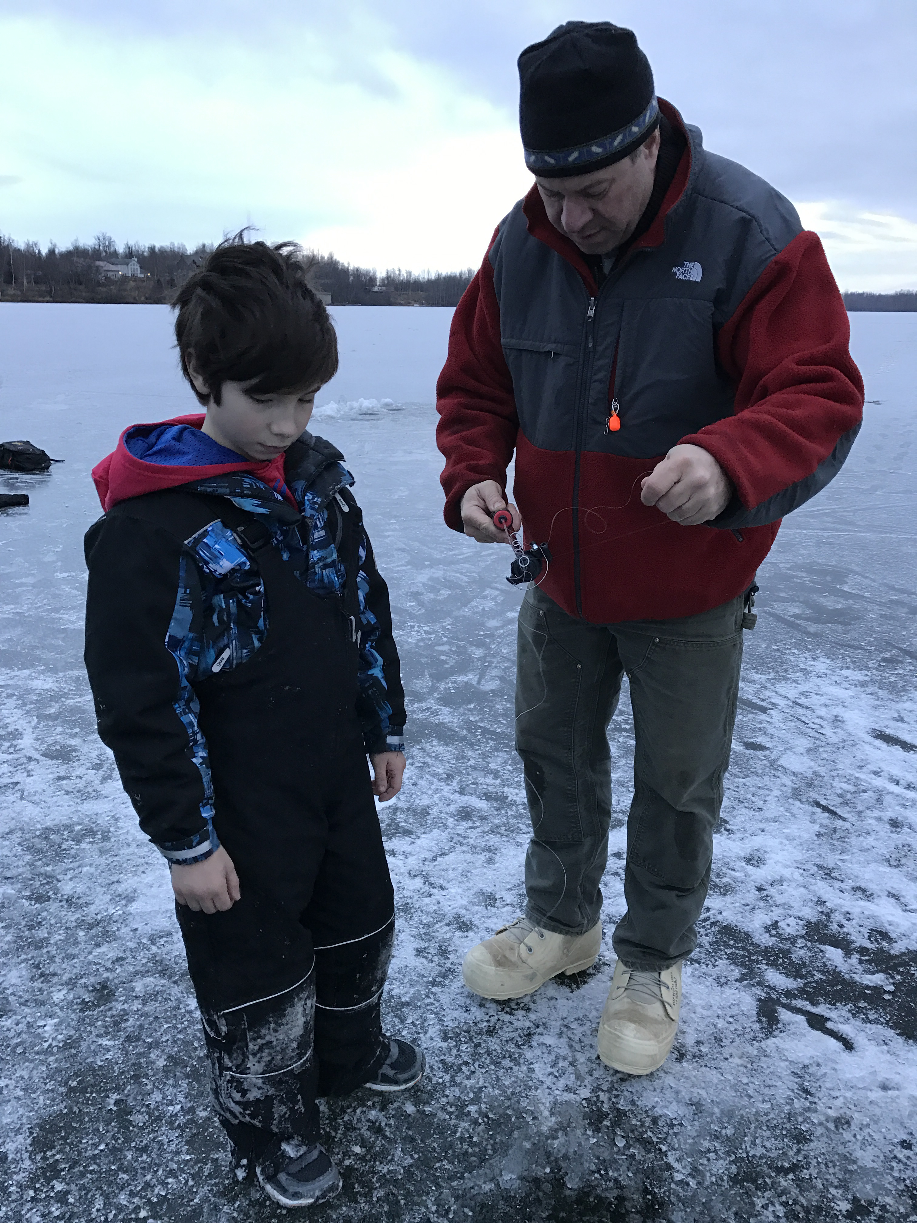 Winter running and winter fun for Go ice fish