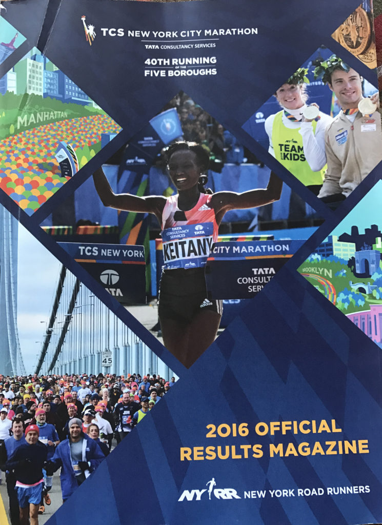 NYC Marathon Magazine Results
