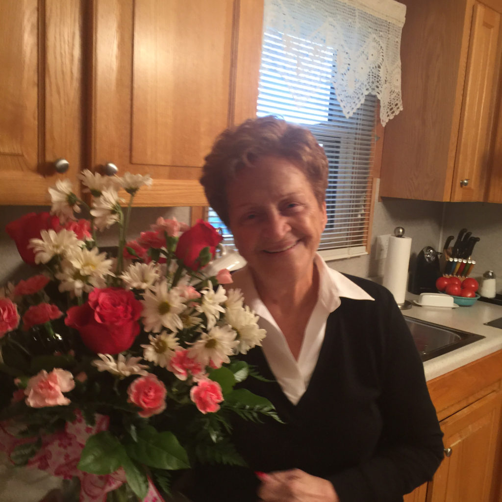 Mother's Birthday Pic with Flowers