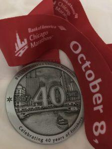 Chicago Marathon Medal 2017
