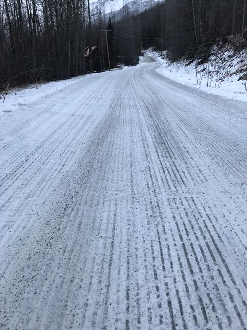 sanded road