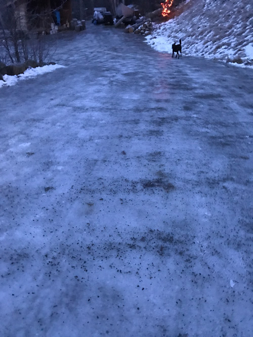 Icy driveway